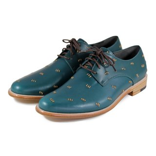 Snowdrop M1091 Stitching Dark Green II Leather Derby shoes