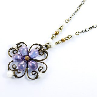 Yang Purple Clover Necklace