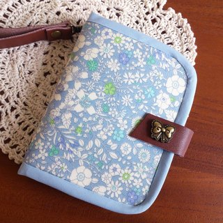 Chomii. Short Wallet Floral Blue Limited