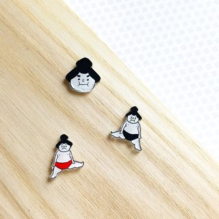 what to play ~ Sumo painted earrings / ear clip-on can be changed / free with one pair into