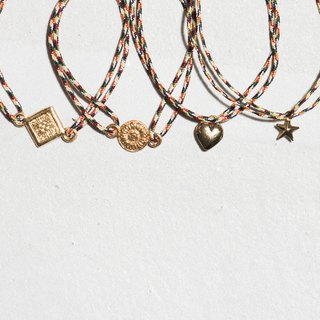 \ GOOD GOOD LUCK / lucky totem bracelet _ square / round totem / careful Heart / Little Star