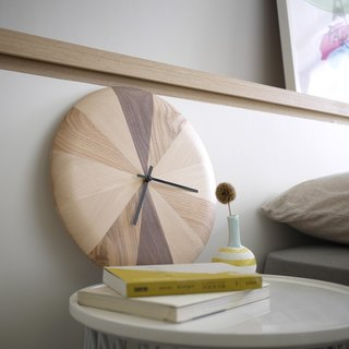 Zone / hour zone hand-made wood clock wall clock