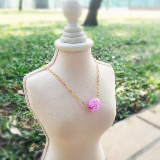 """LaPerle"" 1 粒 dream Zibing popcorn flower necklace 16k gold-plated brass bead necklace Handmade Christmas gifts"
