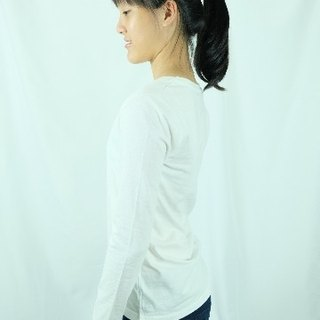 Gain Giogio solid female long-sleeved 100% organic cotton (refined white)