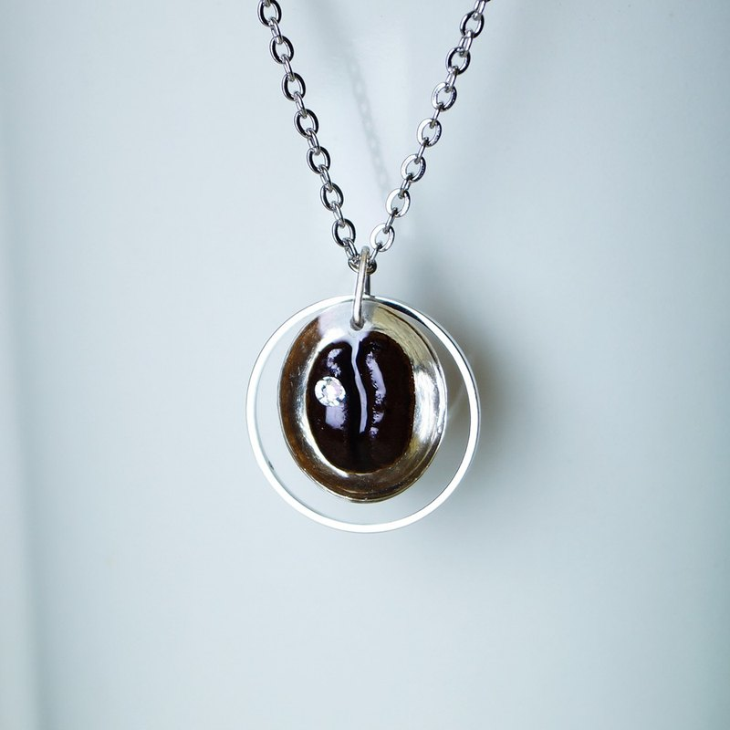 Coffee Necklace (A) real coffee bean necklace special present gift