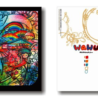 WaWu Rainbow military dependents dream garden / painted / homemade postcards / limited manual card