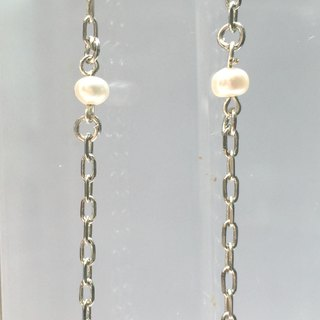 E0297 - own design and manufacture - fashion generous gift of choice - natural stones - Freshwater pearls / pearl earring