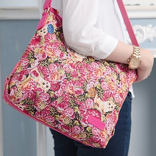 Videos jacquard woven casual shoulder bag leather hide and seek