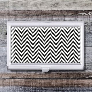 Chevron pattern - business card holder / business card holder / office worker accessories [Special U Design]