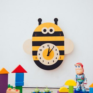 modern moose-3D wall clock-Bee clock