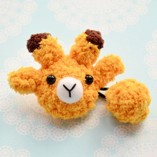 Knitting soft tresses - giraffe