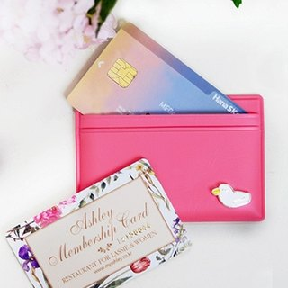 Clear sale - pretty duck ticket card business card holder - candy powder, JSD77134