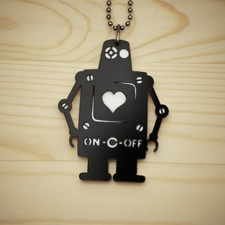 【Peej】'The Love Bot' Double layered Acrylic key chains/necklaces