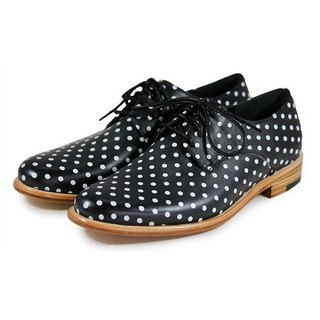 Snowdrop M1091 Polka Dots Leather Derby shoes