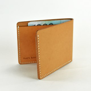【kuo's artwork】 Hand stitched leather men wallet