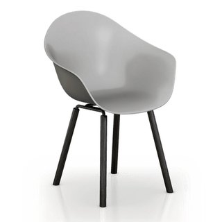 TOOU ArmShell Chair with black oak legs (gray)