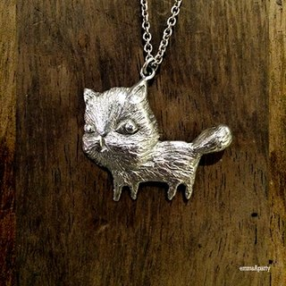 EmmaAparty handmade sterling silver necklace '' scattered walking kitten ''