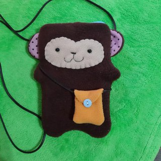 Monkey cute animal cell phone bean bag. Easycard sets. Camera bag