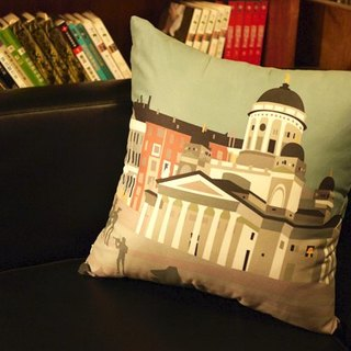 [Take a good trip. Take it easy to rest] Suede pillowcase [Helsinki]. Finland】