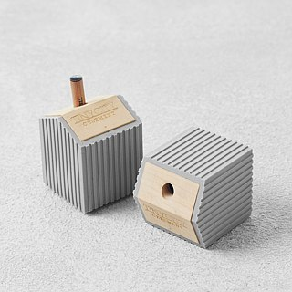 Soft cement tin house pencil sharpener, small city series