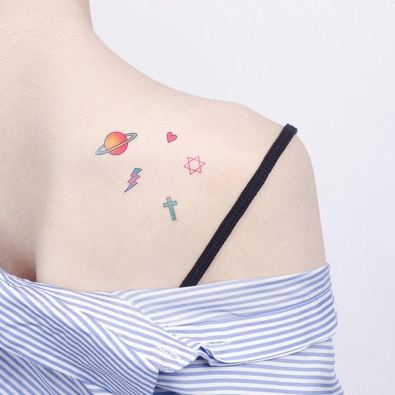 刺青紋身貼紙 / 宇宙行星 微刺青 Surprise Tattoos