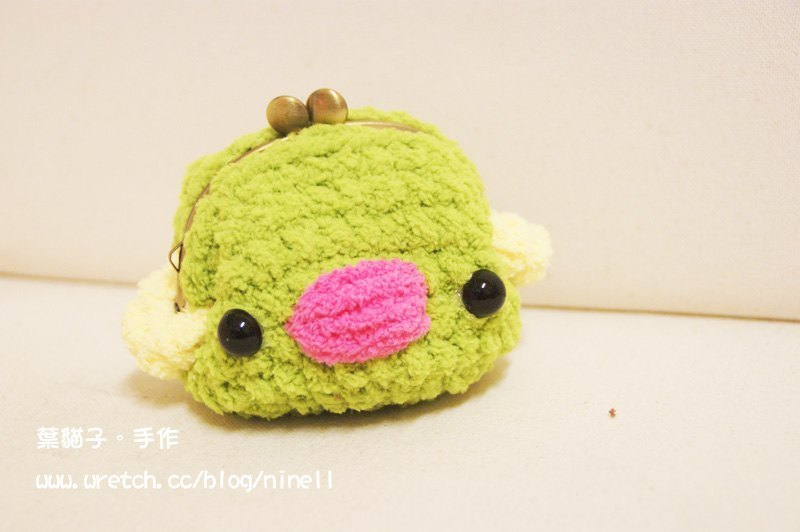 [Leaf cat son. Hand-made crochet doll] finished - bird mouth gold package