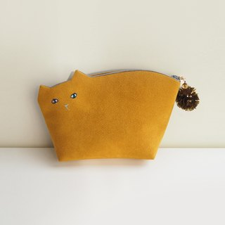 Kittenko pouch No. 001 mustard 【Make-to-order production】
