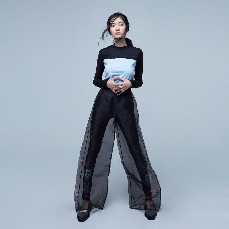 GELÉE 兩件式棉質背心+針織超短版上衣