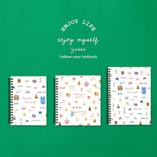 Boge stationery x taste life [30K coil hardcover checkered notes] two designs