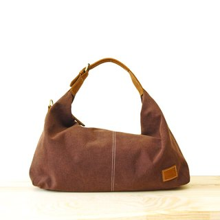 [Happa] youthful invincibility soft shoulder backpack (large) - Stone wash canvas classic (Coffee cocoa coffee)