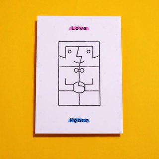 Love & Peace free color postcards