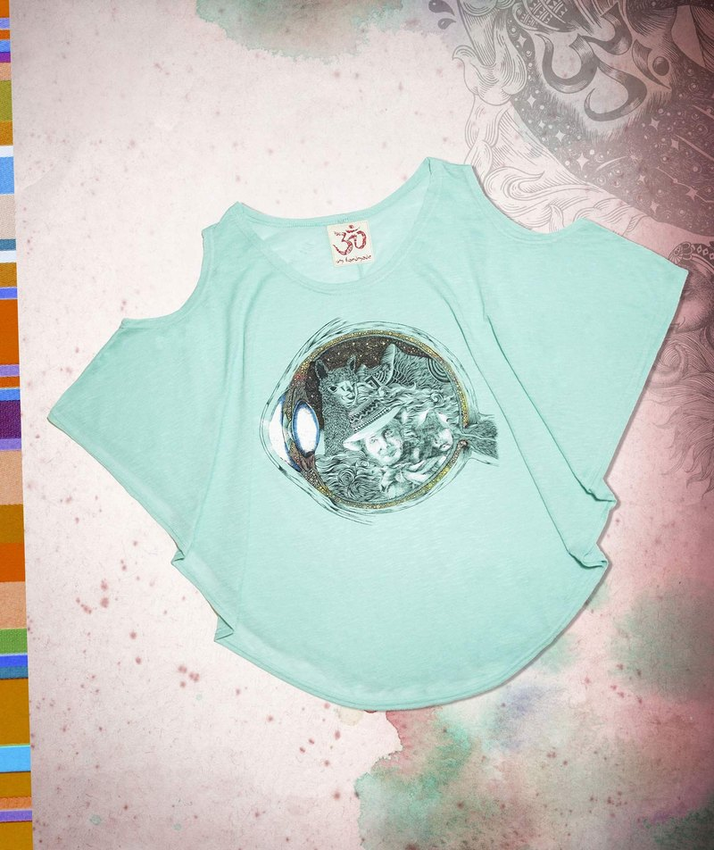 Women feel the summer travel two wear T - pupil in the fantasy world (mint green)
