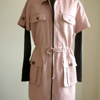 Casual jacket collar - light pink