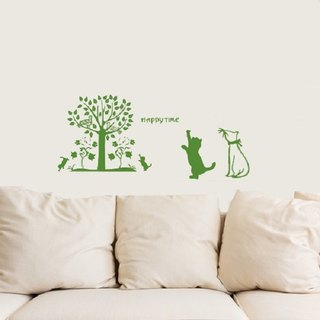 Smart Design Creative trace tree wall stickers ◆ 8 color options with a dog