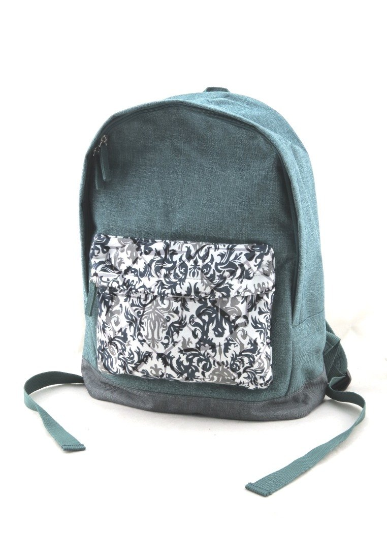 Texture of life backpack --- pastoral green