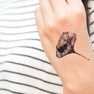 Ginkgo temporary tattoo buy 3 get 1 Floral tattoo party wedding decoration gift
