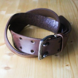 Chainloop homemade customizable size old leather leather belt