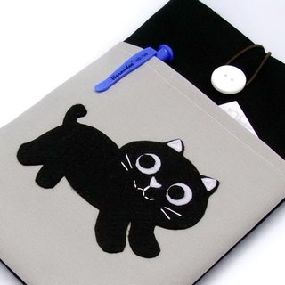iPad Mini Cover / Case homemade tablet computer bags, cloth cover, cloth (which can be tailored) - Small black cat
