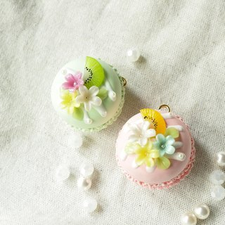 Sweet Dream ☆ Summer Love breeze Something New Macaron key ring - a total of two color options / Wedding Small Things