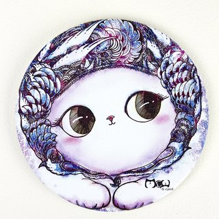 Good meow kawaii ka wa い い ~ ♥ hand-painted ceramic absorbent coasters rise cat