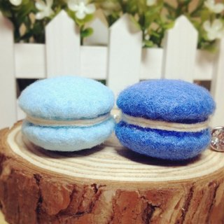 [Cream] plush handmade non-woven hand-made sweet dessert macarons phone strap headphone plug dust plug birthday gift wedding small objects