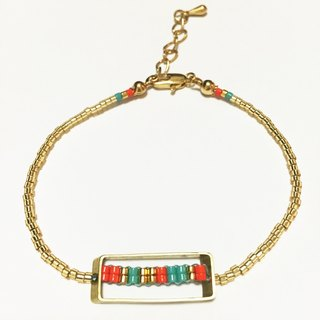 ololssim 3D rectangular box Ethnic Bracelets (0127)