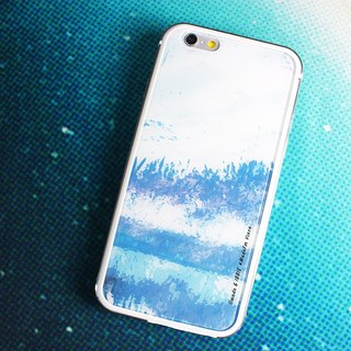 Blue Ocean [iPhone Case (i6plus, i6splus, i6+)-Replaceable Back Panel-Umade Sparkling Metal Frame TPU Double Slim Glossy Hard Shell