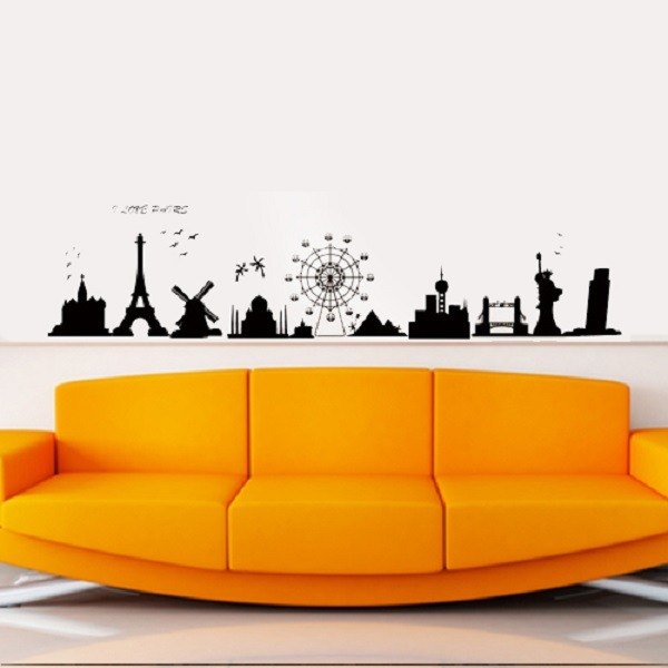"""Smart Design"" Creative Seamless wall stickers ◆ 8 color options around the world"