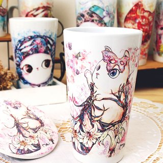 Good meow bulk latte cup - lily flower heels cat