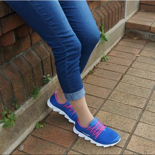 VPEP Jogging Shoes / Classic Blue with Pink / Suitable for jogging, walking, long-distance travel, work