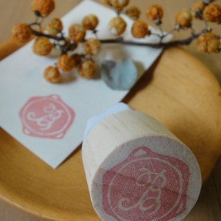Hand-made rubber stamp - wax seal chapter (resolution 1 B)