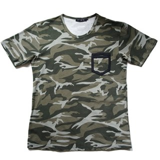 Stone'As Camo Tee / Camouflage Short Tee T-shirt