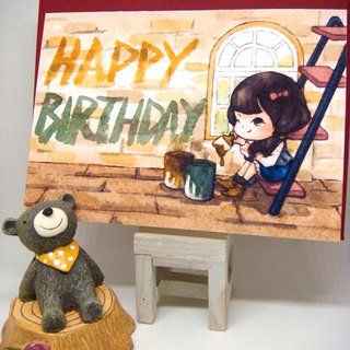 【Pin】Paint A Greeting│Print│Birthday card with envelope at your choice