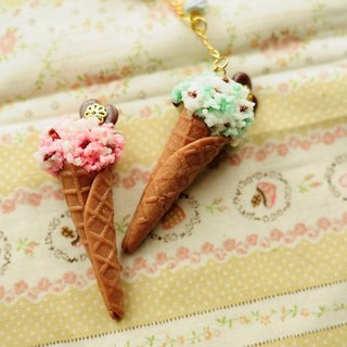 Great ice cream cones bouquet - plum chocolate & amp; mint chocolate / two flavors